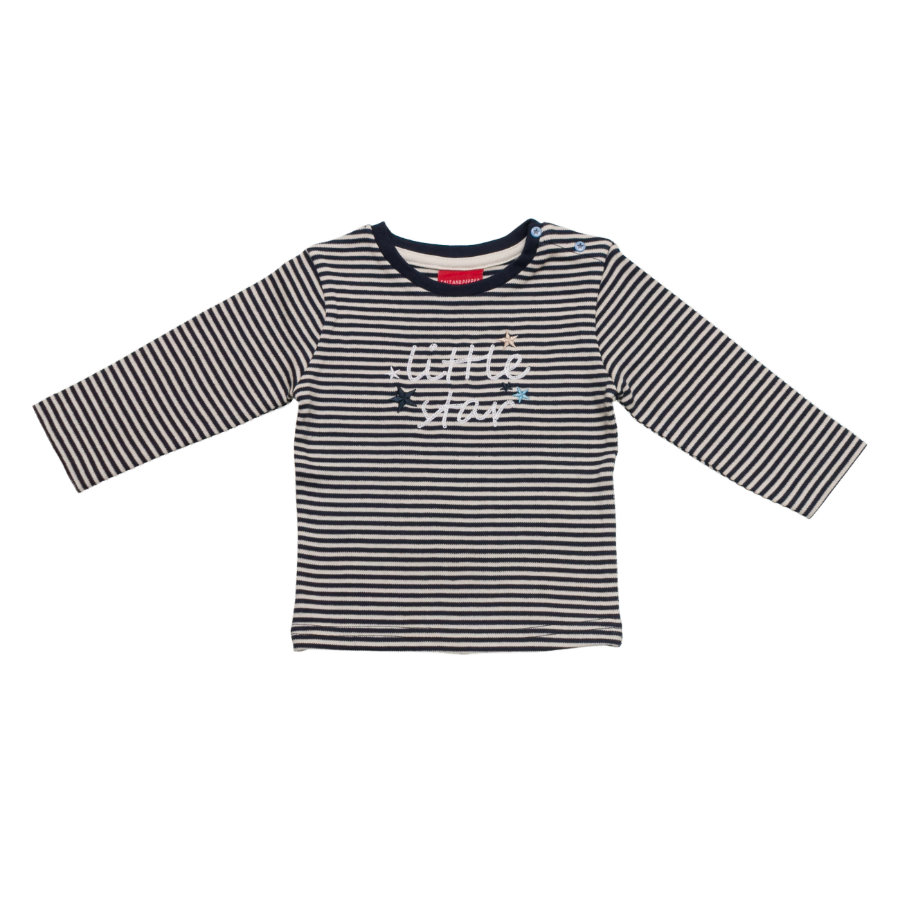 SALT AND PEPPER Baby Glück Boys Longsleeve little star stripe cobalt