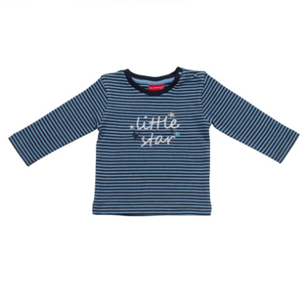 SALT AND PEPPER Baby Glück Boys Longsleeve little star stripe baby blue