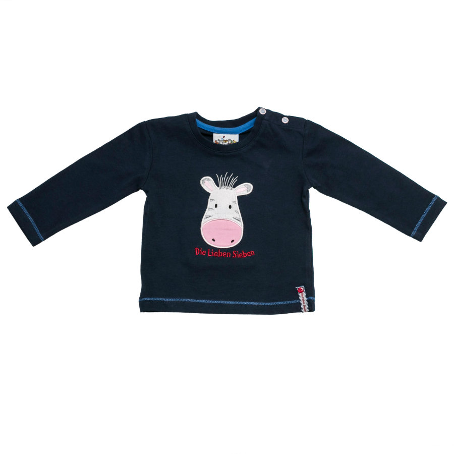 SALT AND PEPPER Boys Longsleeve Zebra navy