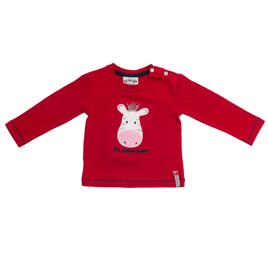 SALT AND PEPPER Boys Longsleeve Zebra tomato red
