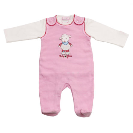SALT AND PEPPER Baby Glück Girls Playsuit rosa