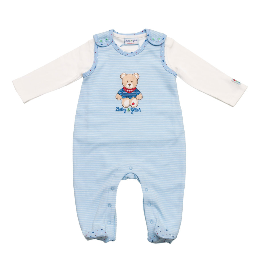 SALT AND PEPPER Baby Glück Boys Playsuit stripe light blue