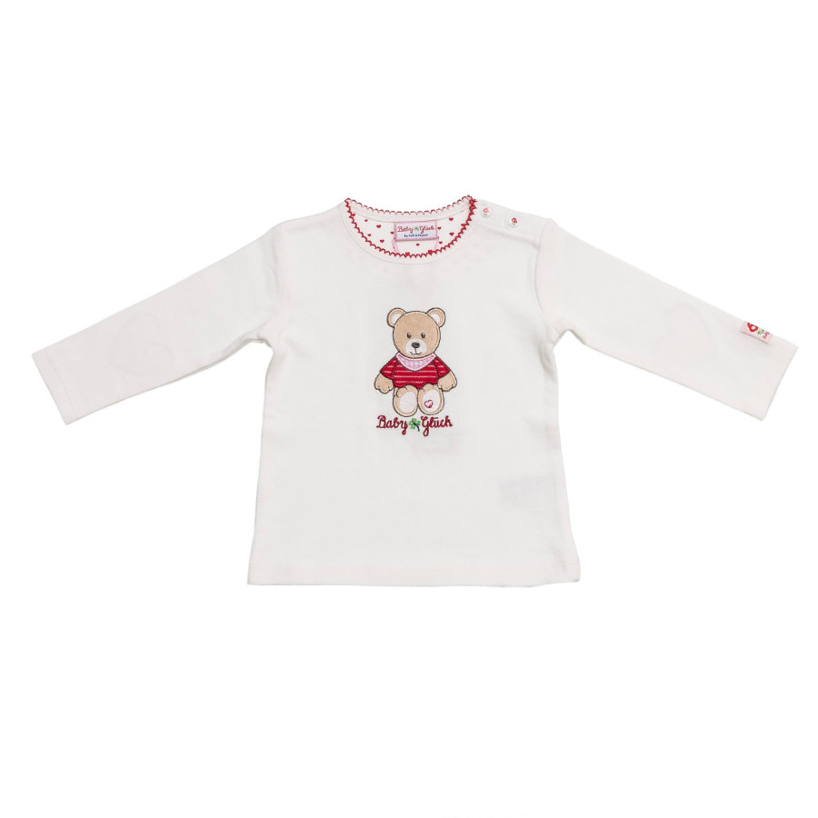 SALT AND PEPPER Baby Glück Girls Longsleeve Bärchen weiß