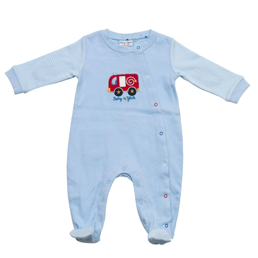 SALT AND PEPPER Baby Glück Boys Playsuit light blue