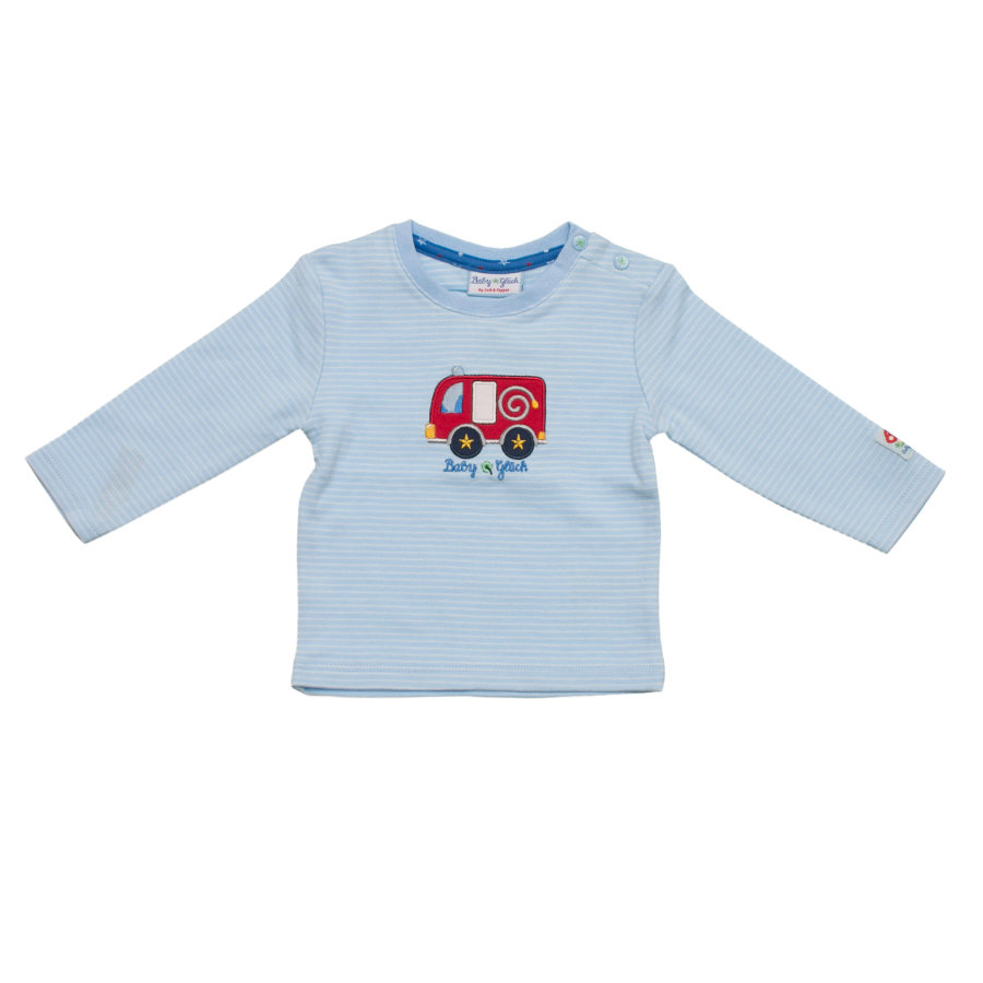 SALT AND PEPPER Baby Glück Boys Longsleeve stripe Auto light blue
