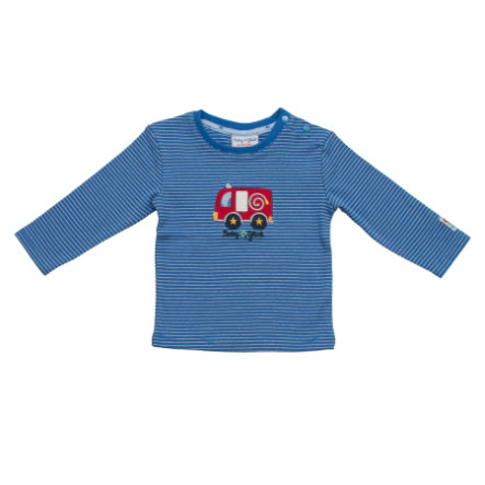 SALT AND PEPPER Baby Glück Boys Longsleeve stripe Auto classic blue