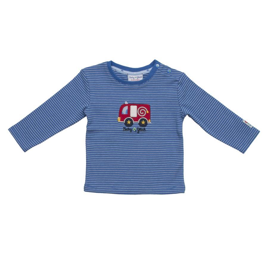 SALT AND PEPPER Baby Glück Boys Bluzka z długim rękawem stripe Auto classic blue