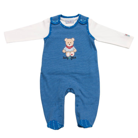 SALT AND PEPPER Baby Glück Boys Playsuit stripe classic blue