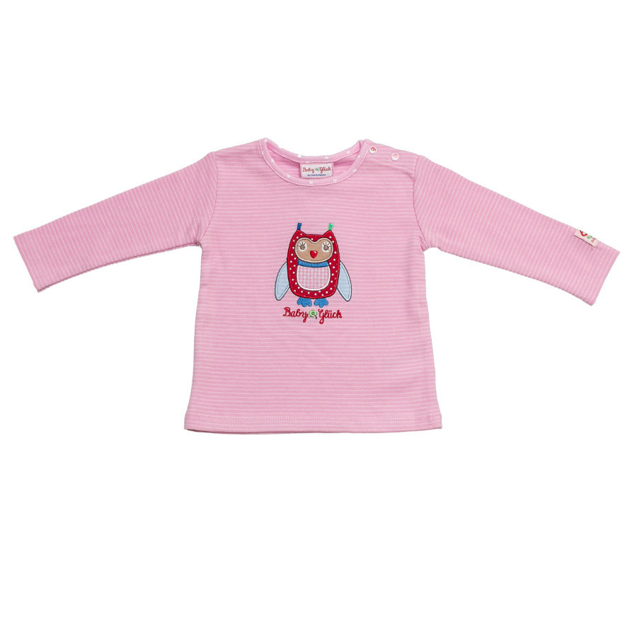 SALT AND PEPPER Baby Glück Girls Longsleeve Eule sweet rosé