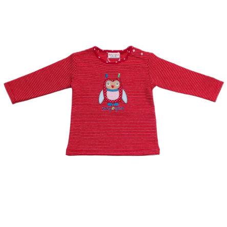 SALT AND PEPPER Baby Glück Girls Longsleeve Eule tomato red