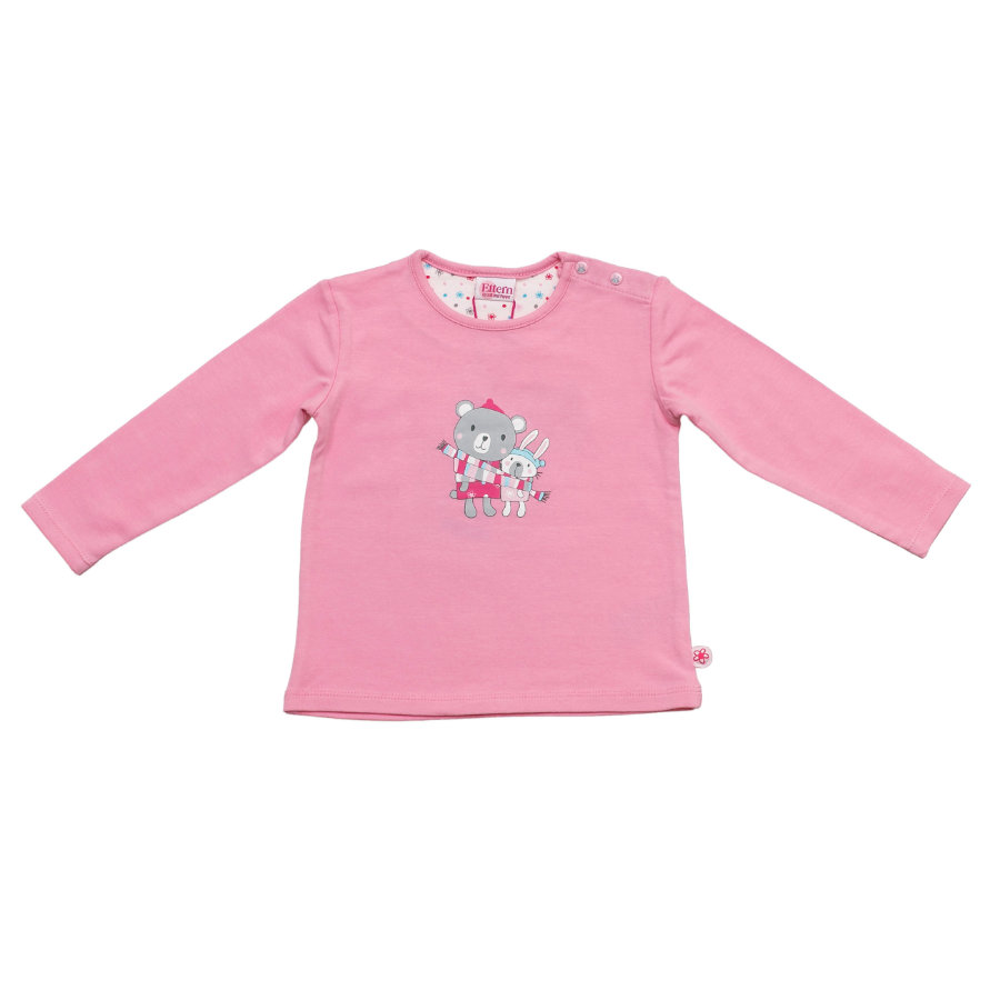 SALT AND PEPPER Baby Glück Girls Longsleeve Bunny Rabbit uni sorbet