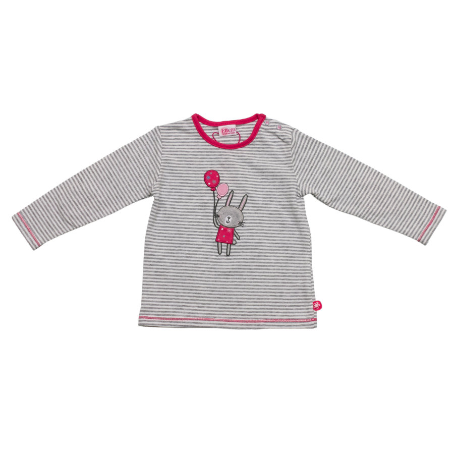 SALT AND PEPPER Baby Glück Girls Longsleeve Rabbit grey melange