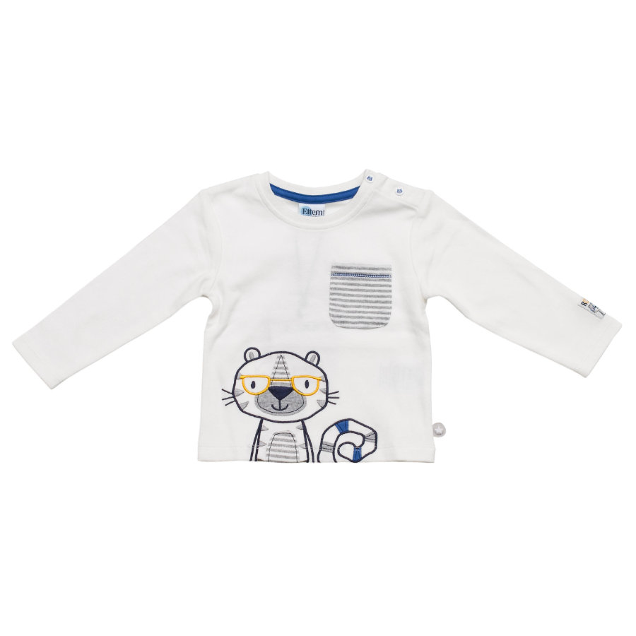 SALT AND PEPPER Baby Glück Boys Longsleeve Funky Tiger weiß