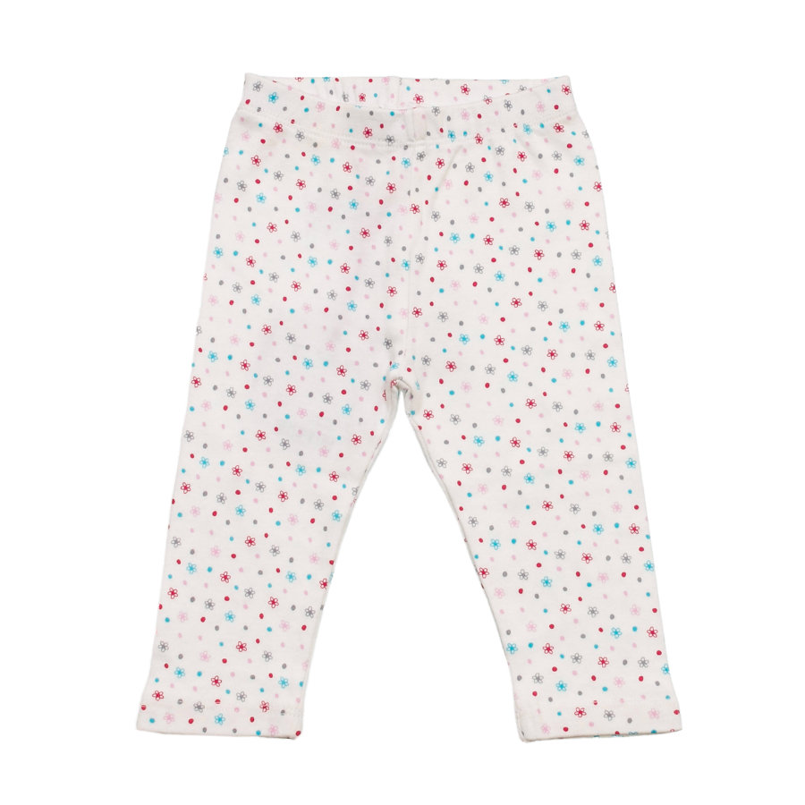 SALT AND PEPPER Baby Glück Girls Legging Bunny allover weiß