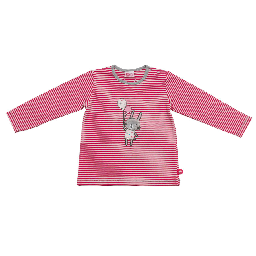 SALT AND PEPPER Baby Glück Girls Longsleeve Rabbit magenta
