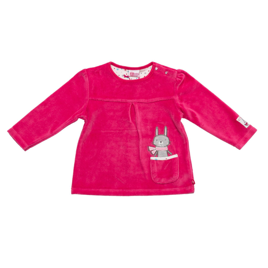 SALT AND PEPPER Baby Glück Girls Longsleeve Bunny Nicki magenta