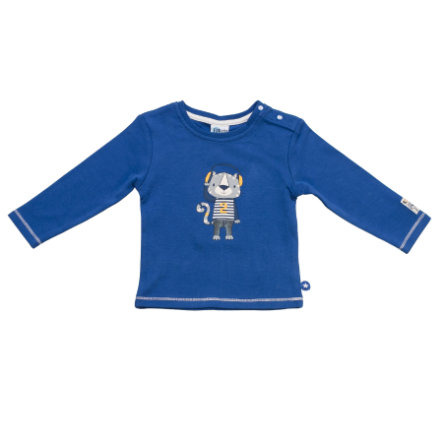 SALT AND PEPPER Baby Glück Boys Longsleeve Tiger print bright blue
