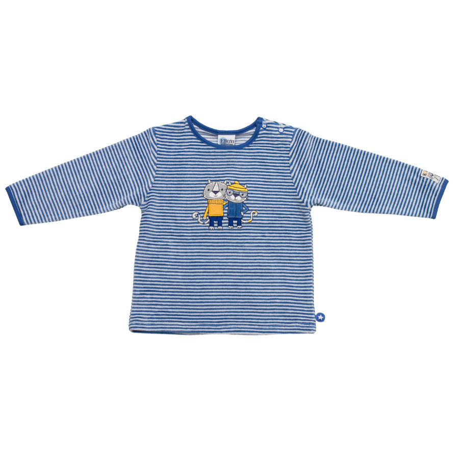 SALT AND PEPPER Baby Glück Boys Longsleeve Tiger Nicki bright blue