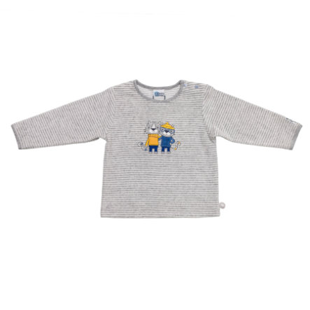SALT AND PEPPER Baby Glück Boys Longsleeve Tiger Nicki grey melange