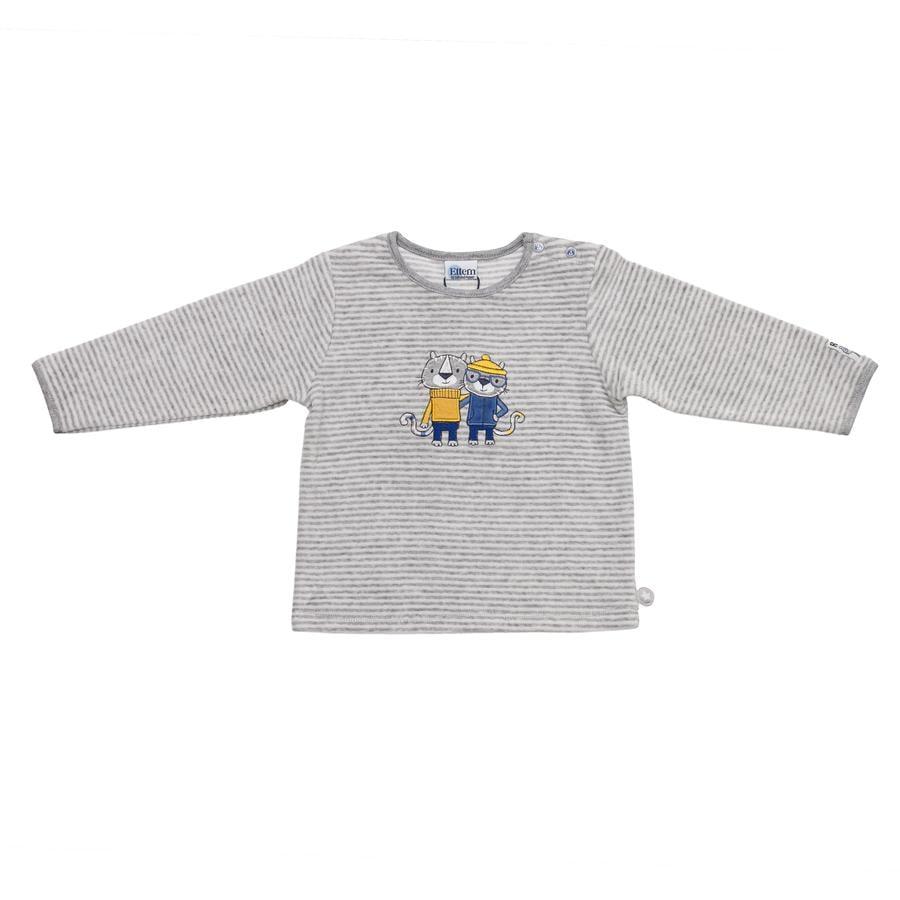 SALT AND PEPPER Baby Glück Boys Bluzka z długm rękawem Tiger Nicki grey melange