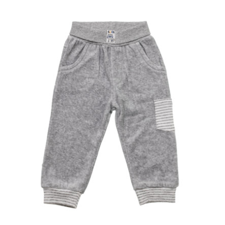 SALT AND PEPPER Baby Glück Boys Nickihose Tiger uni grey melange