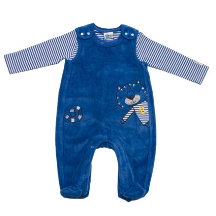 SALT AND PEPPER Baby Glück Boys Stramplerset Tiger Nicki uni bright blue