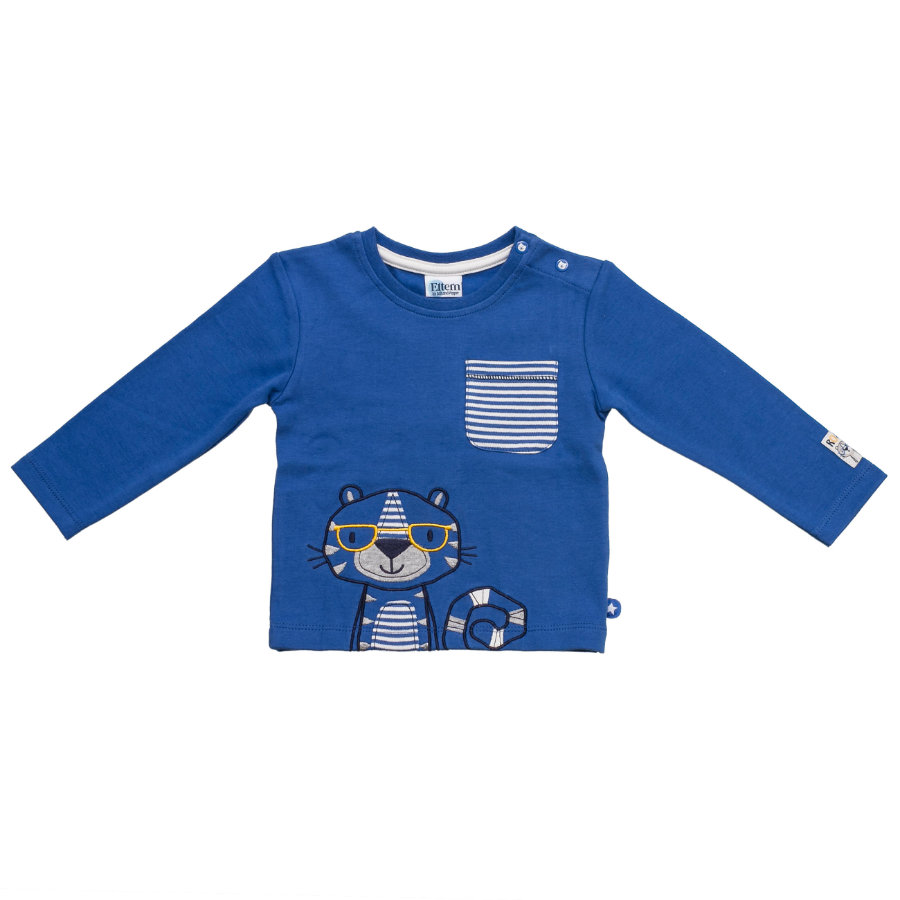 SALT AND PEPPER Baby Glück Boys Longsleeve Funky Tiger bright blue