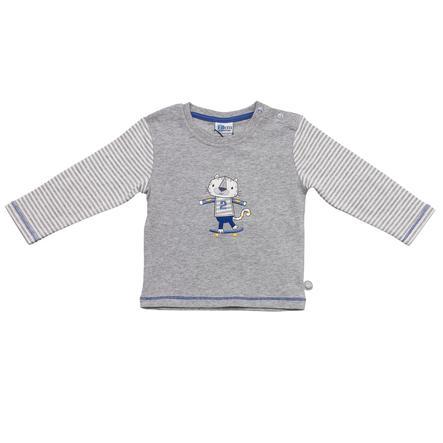 SALT AND PEPPER Baby Glück Boys Bluzka z długim rękawem Tiger grey melange