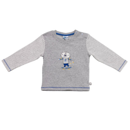 SALT AND PEPPER Baby Glück Boys Longsleeve Tiger grey melange