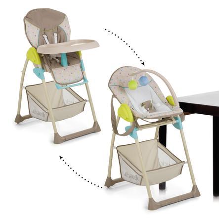 hauck Chaise haute bébé évolutive Sit'n Relax Multi Dots, sable