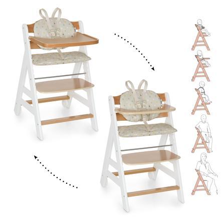 hauck Krzesełko do karmienia Beta Plus White/Nature/Dots sand