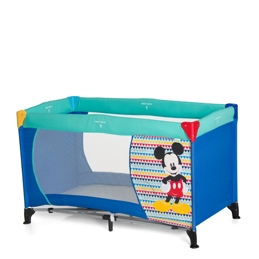 hauck Reisebett Dream N Play Mickey Geo Blue