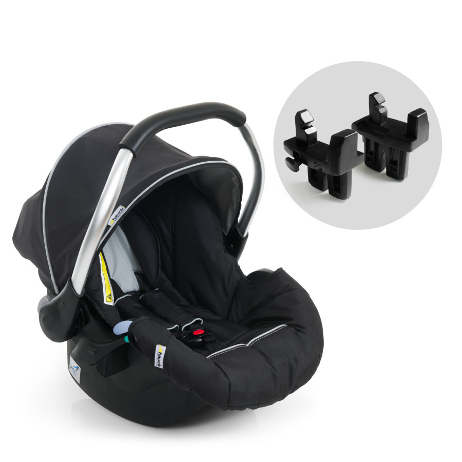 hauck Seggiolino auto Zero Plus Comfort + Adattatore per Duett black