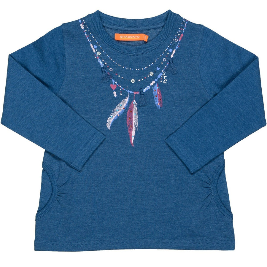STACCATO Girls Sweatshirt jeans blue melange