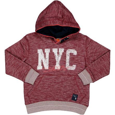 STACCATO Boys Sweat-shirt à capuche structure rouge foncé