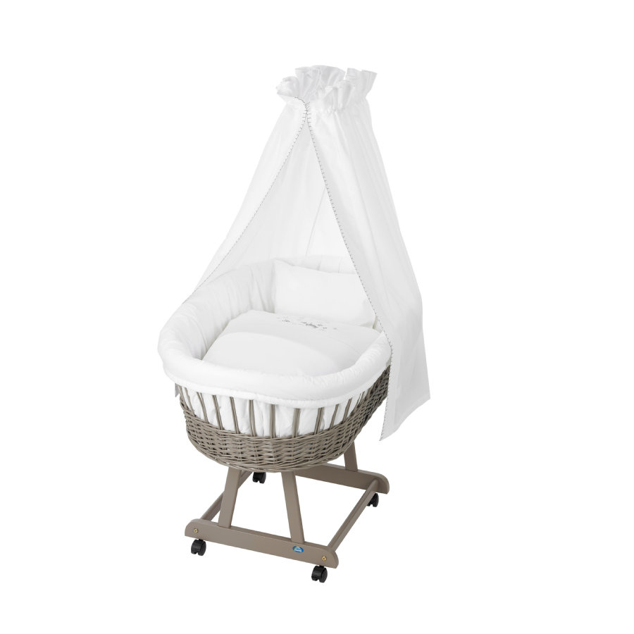 Alvi Textilní sada do košíku pro miminko ovečka bílá