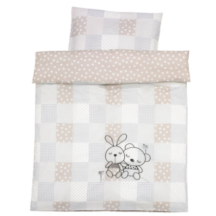 alvi bettw sche 100 x 135 cm rabbit sandgrau baby. Black Bedroom Furniture Sets. Home Design Ideas