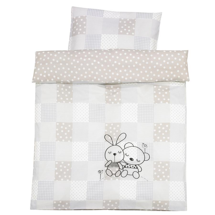 Alvi Ropa de cama Conejo gris-arena 100 x 135 cm
