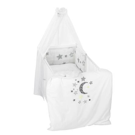 Alvi® Parure de lit enfant Silverstar, gris 3 pièces 100x135 cm