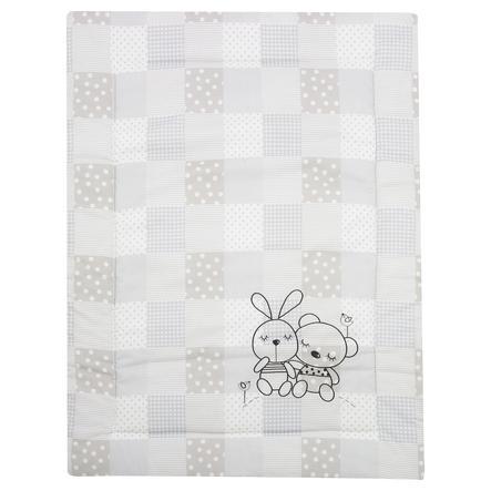 Alvi® Couverture d'éveil Rabbit, gris sable, 100x135 cm