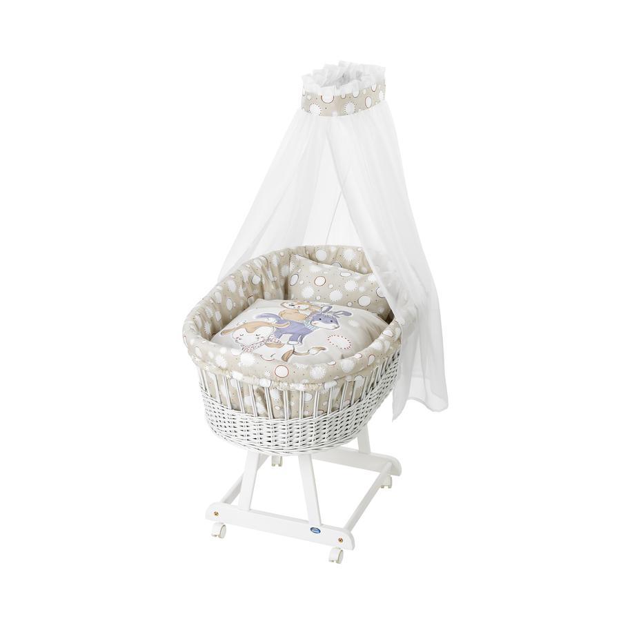 Alvi Textilní sada do košíku pro miminko zvířecí pyramida béžová