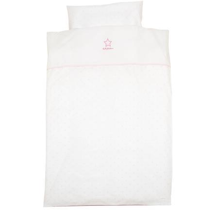 Alvi Set biancheria da lettino Classic Star con applicazioni 100 x 135 cm rosé