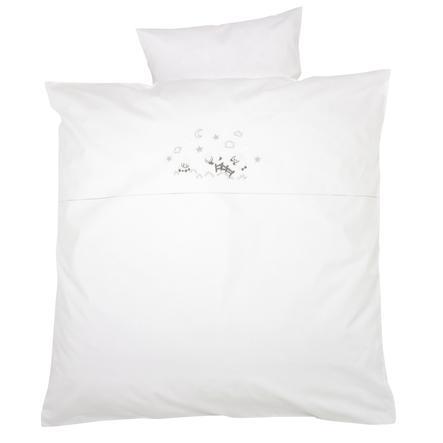 ALVI Parure de lit Mouton rêveur, blanc, 80 x 80 cm