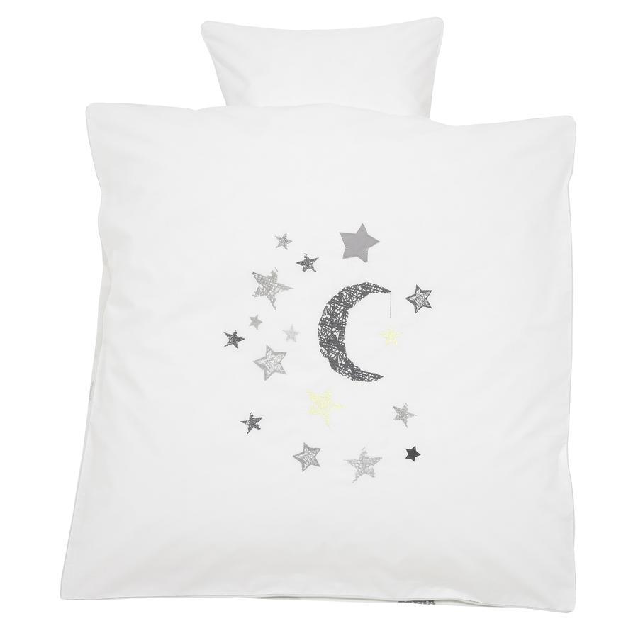 Alvi Ropa de cama 80 x 80 cm Estrellas plateadas gris