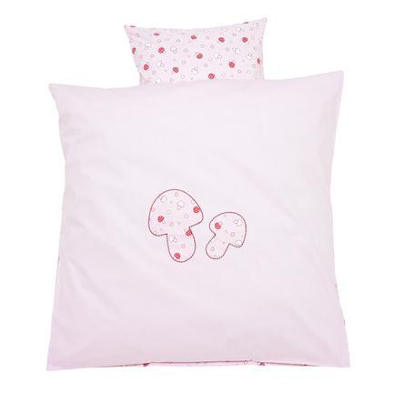 Alvi Bettwäsche Glückspilz rosa 80 x 80 cm