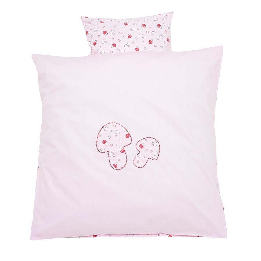 Alvi Bettwäsche 80 x 80 cm, Glückspilz rosa