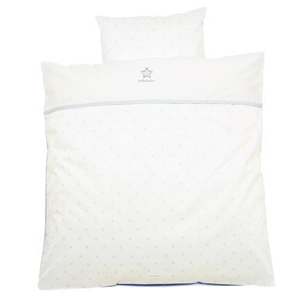 ALVI Parure de lit Classic Star, broderie, bleu, 80 x 80 cm