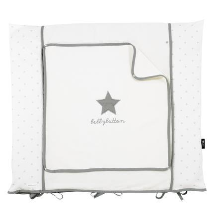 Alvi Betræk til pusleunderlag Classic Star med broderi grå 70 x 85 cm
