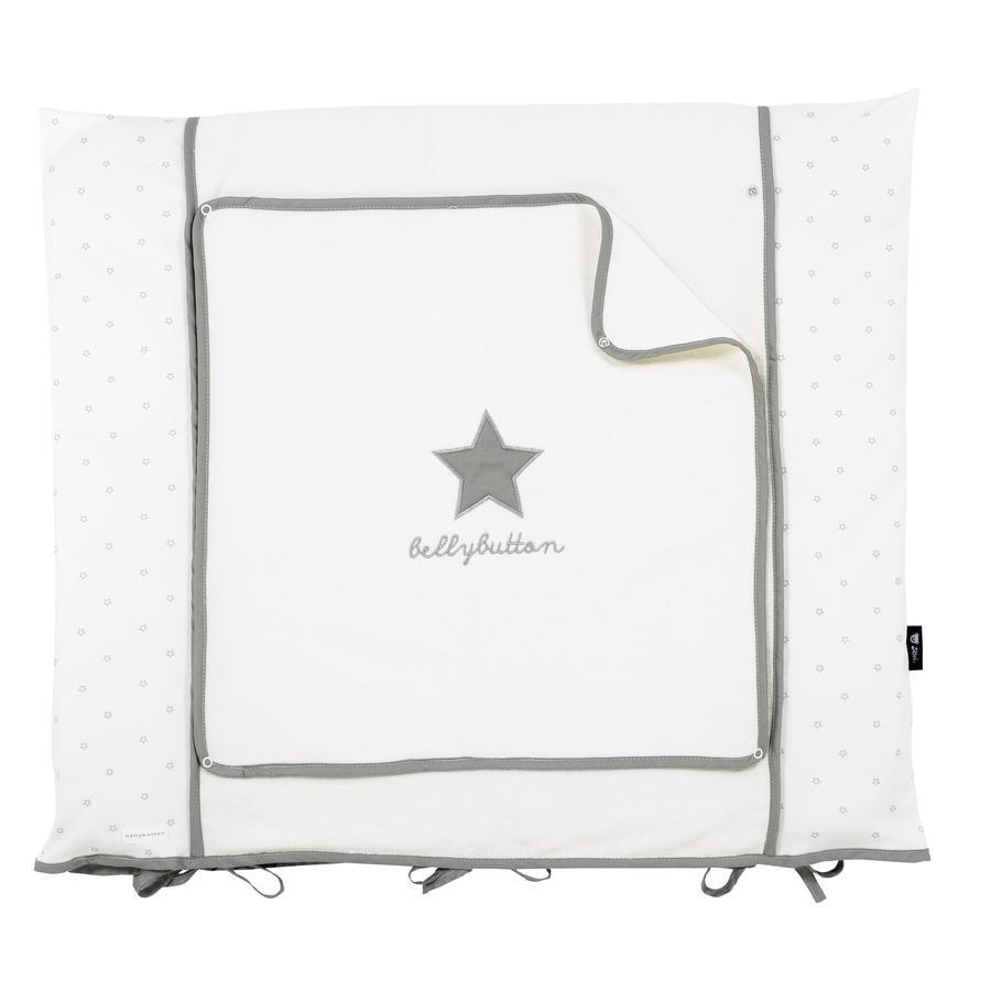 ALVI Housse matelas à langer Classic Star, broderie, gris, 70 x 85 cm