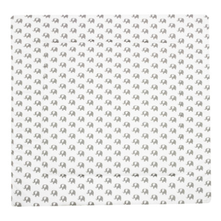 Alvi Krabbeldecke Bellybutton Special Edition Elephants white 100 x 135 cm